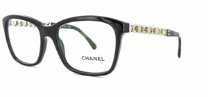 Chanel Chanel CH3263-Q c.501 Chained Leather Eyeglasses RX Frames 52mm Italy