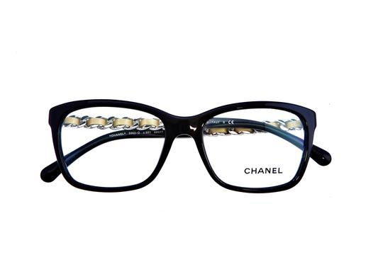 Chanel Chanel CH3263-Q c.501 Chained Leather Eyeglasses RX Frames 52mm Italy Image 4