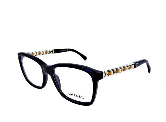 Chanel Chanel CH3263-Q c.501 Chained Leather Eyeglasses RX Frames 52mm Italy Image 6