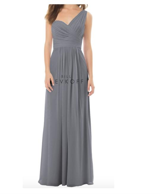 Item - Pewter/Grey 492 Traditional Bridesmaid/Mob Dress Size 2 (XS)