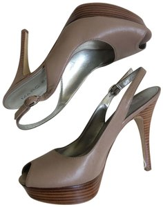 Marc Fisher taupe Platforms