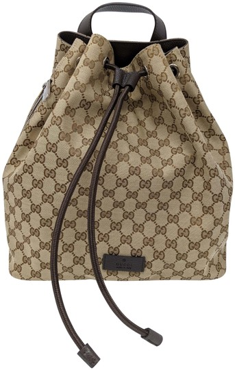 Preload https://img-static.tradesy.com/item/25784945/gucci-beigebrown-gg-pull-string-draw-string-449175-9790-beigebrown-canvas-leather-backpack-0-2-540-540.jpg