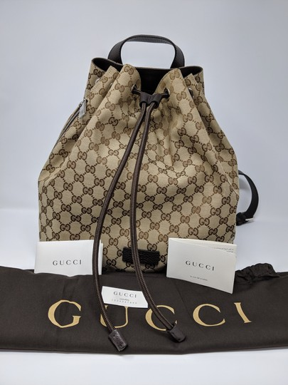 Gucci Canvas Backpack Image 9