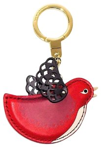 Kate Spade Ooh La La Bird Leather Keychain Key Fob WORU0258