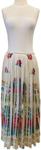 Manoush Pleating Flowers Musthave Chic Maxi Skirt Multicolor