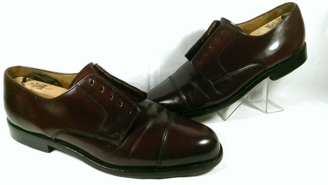 Item - Brown Maroon Oxblood City Leather Office Dress Lace Up 9 Shoes