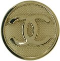 Chanel Gold Mesh Circle Cc Brooch Light Charm Chanel Gold Mesh Circle Cc Brooch Light Charm Image 1