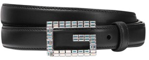 Gucci Moon crystal leather belt size 85