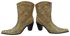 Helen's Heart Prom Pageant Gold Boots
