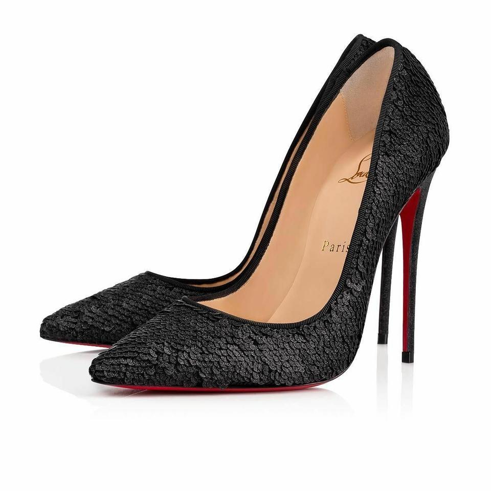 price reduced cute cheap cheapest Christian Louboutin Black So Kate 120 Paillete Charbon Sequin Stiletto  Classic Heel Pumps Size EU 38.5 (Approx. US 8.5) Regular (M, B)