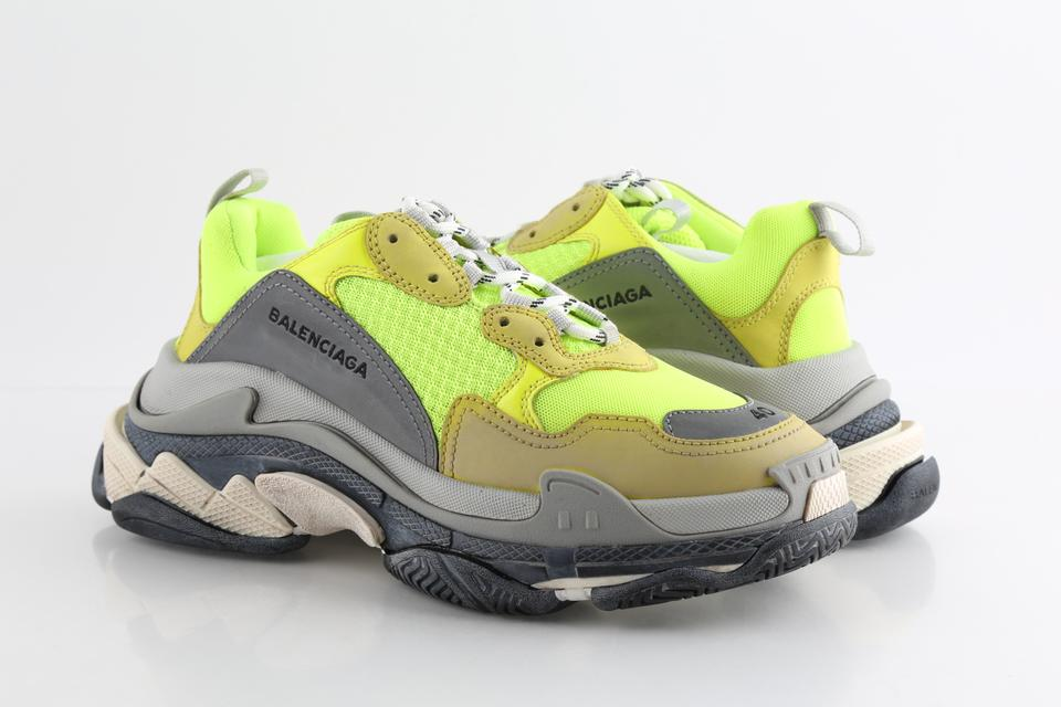 best authentic differently best supplier Balenciaga Multicolor Triple S Neon Yellow Sneakers Shoes