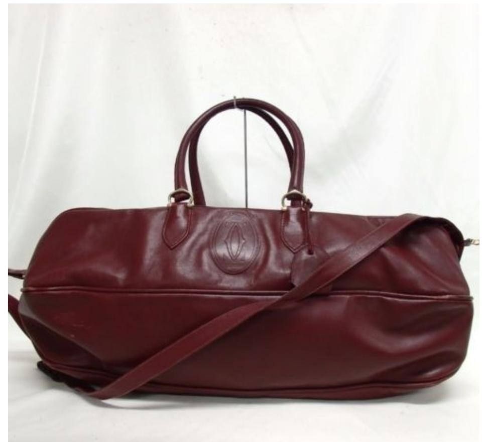 Cartier Keepall Boston Carry On Luggage Rare Wine Leather Weekend Travel Bag