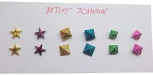 Betsey Johnson Betsey Johnson New Neon Star and Pyramid 6 Sets Earrings