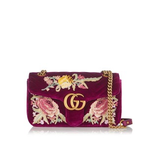 Gucci Marmont Velvet Cross Body Bag