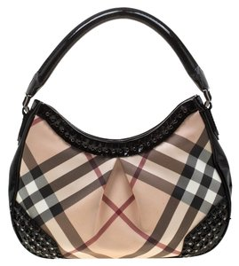 Burberry Pvc Leather Canvas Hobo Bag