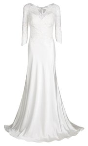 White Maxi Dress by Justin Alexander Lace Polyester