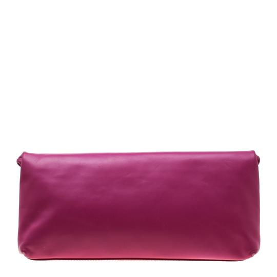 Alexander McQueen Leather Canvas Studded Pink Clutch Image 1