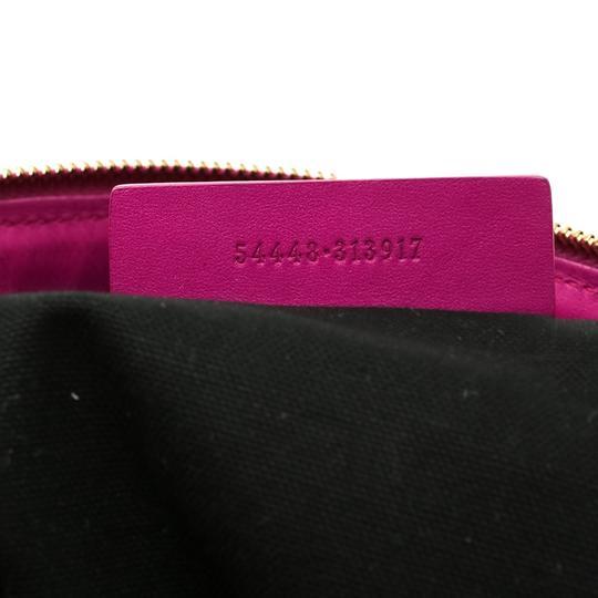 Alexander McQueen Leather Canvas Studded Pink Clutch Image 6