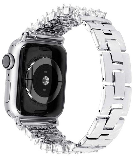 Apple Silver Luxury custom Swarovski Crystals replacement bracelet watch band Image 8