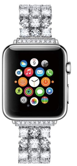 Preload https://img-static.tradesy.com/item/25786985/apple-silver-luxury-custom-swarovski-crystals-replacement-bracelet-watch-band-tech-accessory-0-3-540-540.jpg
