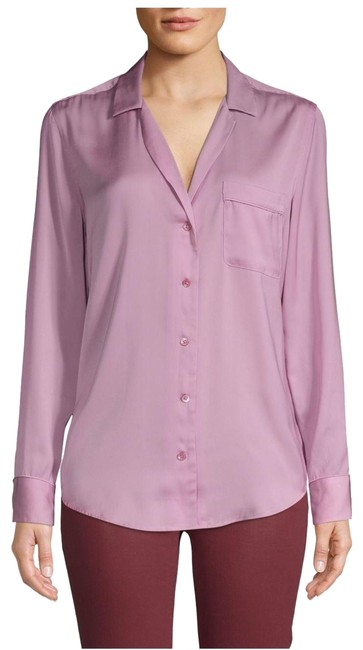 Item - Orchid Smoke Keira Long Sleeve Button Shirt Button-down Top Size 4 (S)