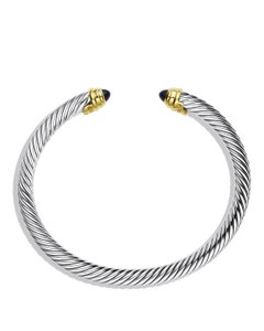 David Yurman Sterling silver David Yurman Cable Classics onyx cuff