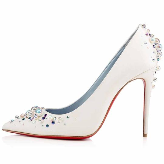 Christian Louboutin Beaded Crystal So Kate Pearl Candidate Crepe White Pumps Image 1