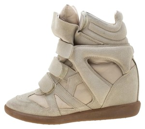 Isabel Marant Suede Leather Wedge Beige Flats