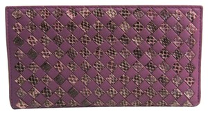 Bottega Veneta Bottega Veneta Intrecciato Lambskin Long Wallet (bi-fold) Purple