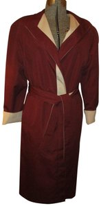 Etienne Aigner Vintage Reversible Belted Rain Oneam005 Trench Coat