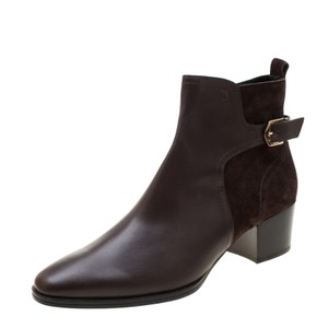 Tod's Leather Suede Ankle Brown Boots