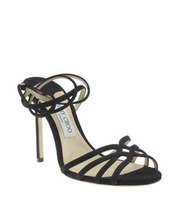 Jimmy Choo Suede Black Sandals