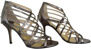 Jimmy Choo Stiletto Strappy metallic, steel, grey, silver Sandals