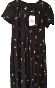 black and orange floral Maxi Dress by Christy Dawn