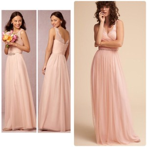 BHLDN Rose Fleur Anthropologie Feminine Bridesmaid/Mob Dress Size 6 (S)