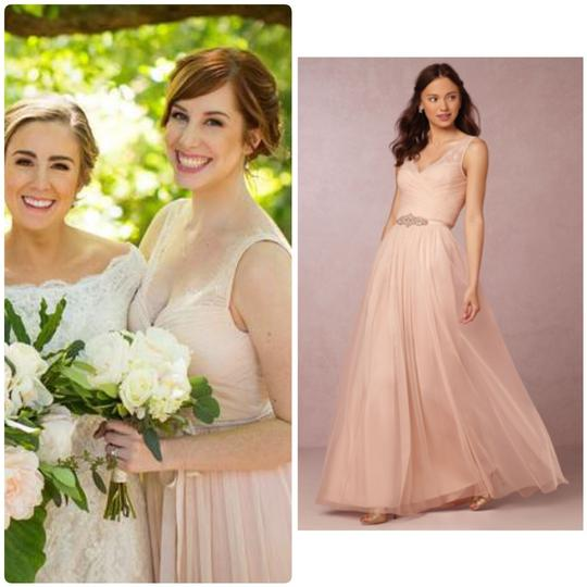 BHLDN Rose Fleur Anthropologie Feminine Bridesmaid/Mob Dress Size 6 (S) Image 1
