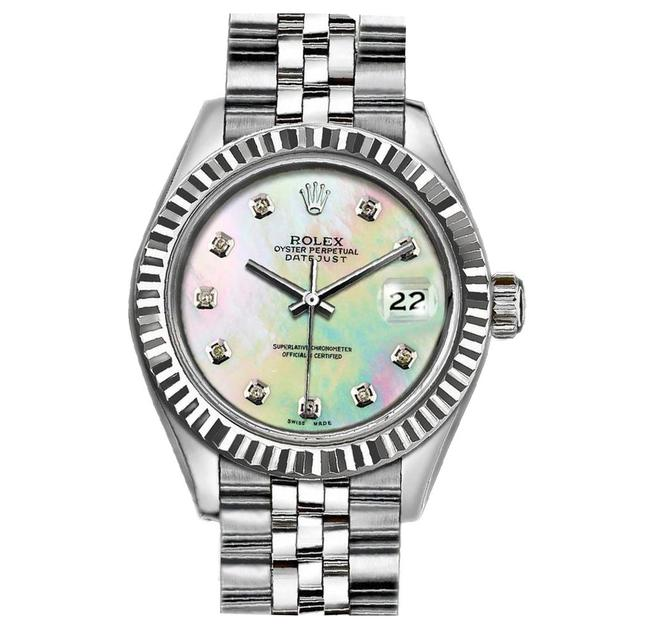 Item - Rainbow Ladies 26mm Datejust with Mother Of Pearl Diamond Dial Watch