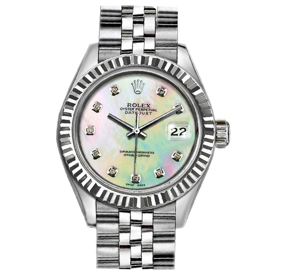 Rolex Rainbow Ladies 26mm Datejust with Mother Of Pearl Diamond Dial Watch  66% off retail