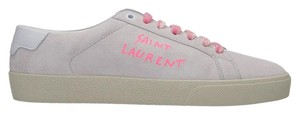 Saint Laurent Heels Pumps Ysl Sneakers Grey & Pink Athletic