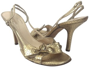 Kate Spade Bowfront Fishscale Gold Sandals