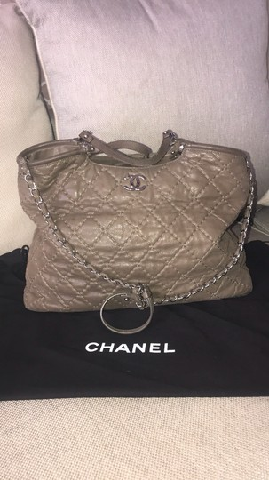 Chanel Tote Calfskin Leather Cross Body Bag Image 1
