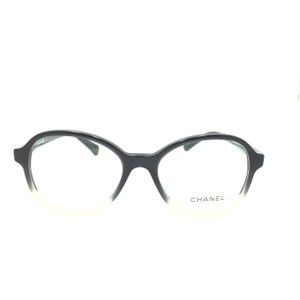 Chanel Chanel Round Transparent Black Tan 3340 c.1557 Rx Eyeglasses