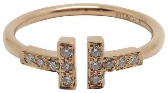 Preload https://img-static.tradesy.com/item/25790412/tiffany-and-co-18k-rose-gold-and-diamonds-t-wire-ring-0-1-540-540.jpg