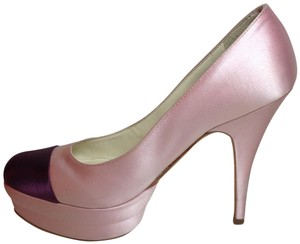 Miu Miu Pump Satin Designer Pink and purple Platforms
