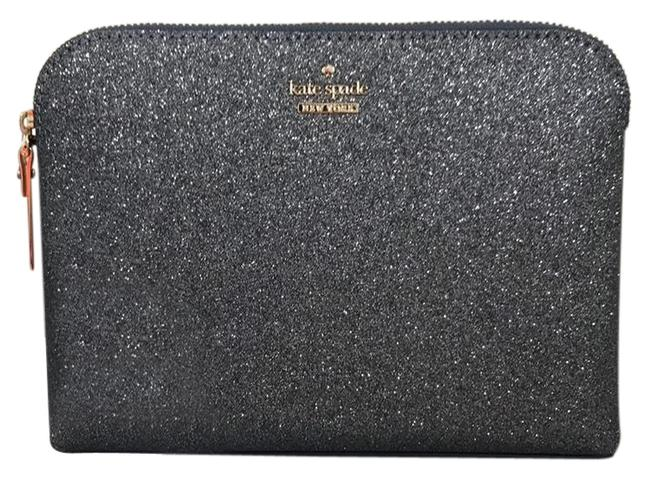 Item - Ash Glitter Burgess Court Small Briley Gray Case Cosmetic Bag