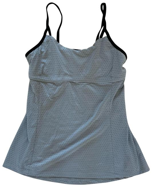 Item - Gray and Black Mesh Like M Tank Top/Cami Size 8 (M)