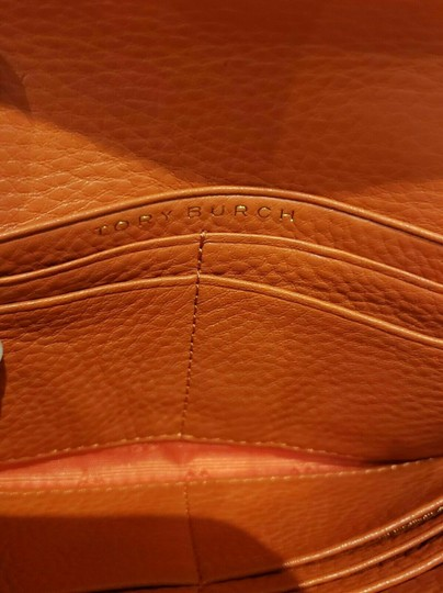 Tory Burch SPICED ORANGE BRITTEN DUO LEATHER ENVELOPE CONTINENTAL WALLET Image 11