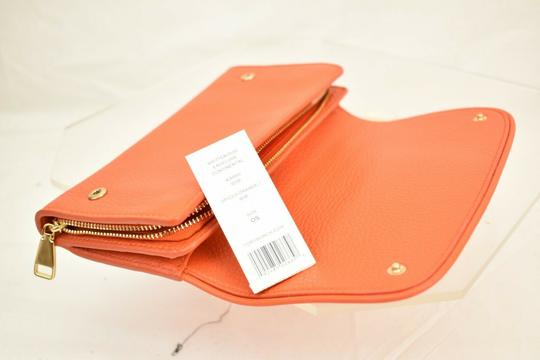 Tory Burch SPICED ORANGE BRITTEN DUO LEATHER ENVELOPE CONTINENTAL WALLET Image 3
