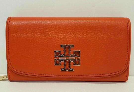 Tory Burch SPICED ORANGE BRITTEN DUO LEATHER ENVELOPE CONTINENTAL WALLET Image 6