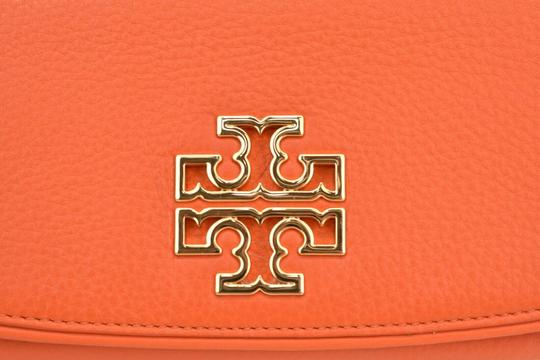 Tory Burch SPICED ORANGE BRITTEN DUO LEATHER ENVELOPE CONTINENTAL WALLET Image 7
